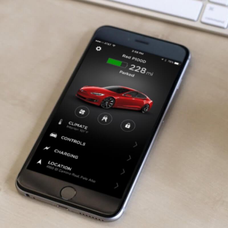 Tesla-App auf iPhone